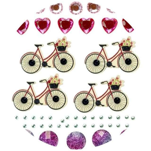 """Dżety samoprzylepne """"Kryształki i rowery"""", mix, Titanum, 52 szt"""