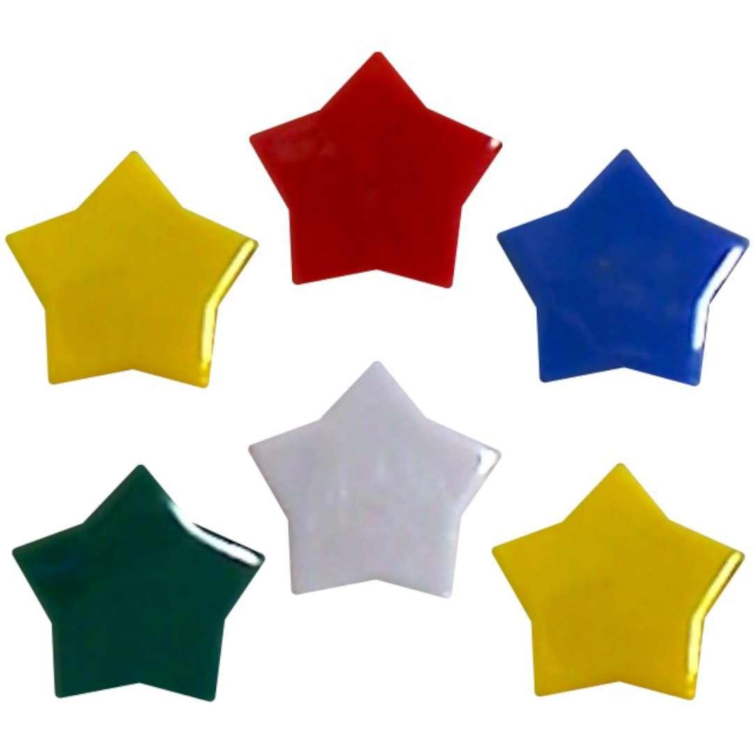 "Magnesy ""Gwiazdy"", kolor mix, Titanum, 30 mm. 6 szt"