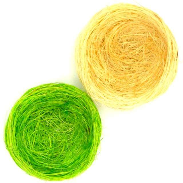 """Gniazdka """"Dekoracyjne zielone i żółte"""", ALIGA, 6 szt."""