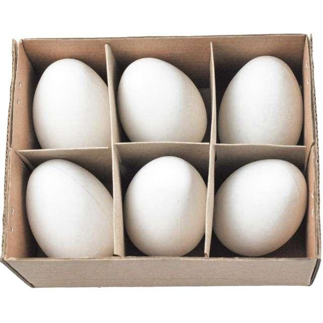 """Jajka """"Kurze-dekoracyjne"""", białe, ALIGA, 6 szt."""