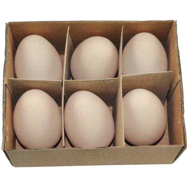"""Jajka """"Kurze-dekoracyjne"""", beżowe, ALIGA, 6 szt."""
