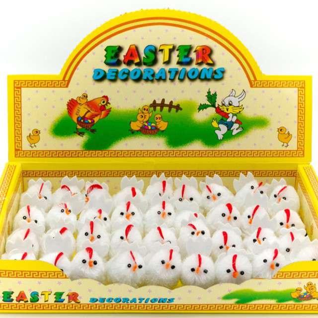 Kurczaki Dekoracyjne-białe 4 cm ALIGA 3 szt