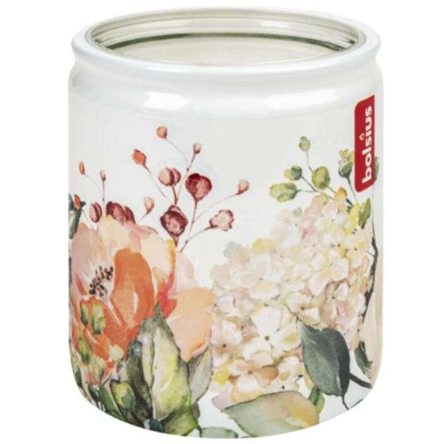 Świeca w szkle Polna róża pastel Bolsius 82 mm