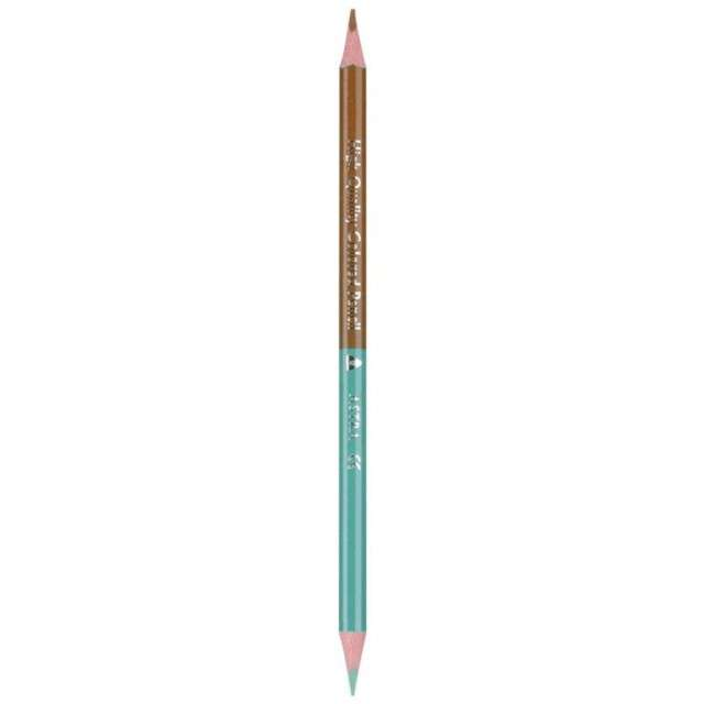 Kredki ołówkowe Dwustronne - 24 kolory + temperówka mix Astra 12 szt