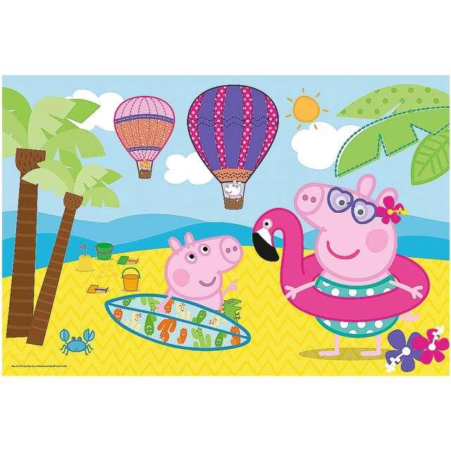 Puzzle Świnka Peppa na plaży Trefl 24 elementy