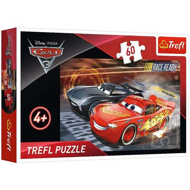 """Puzzle """"Auta wyścig"""", Trefl, 60 elementów"""