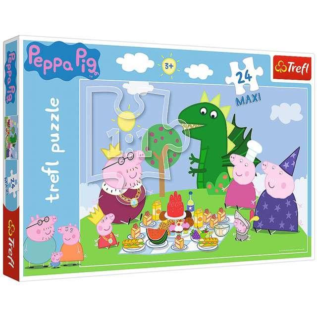 Puzzle Świnka Peppa - Piknikowa Uczta Trefl 24 elementy