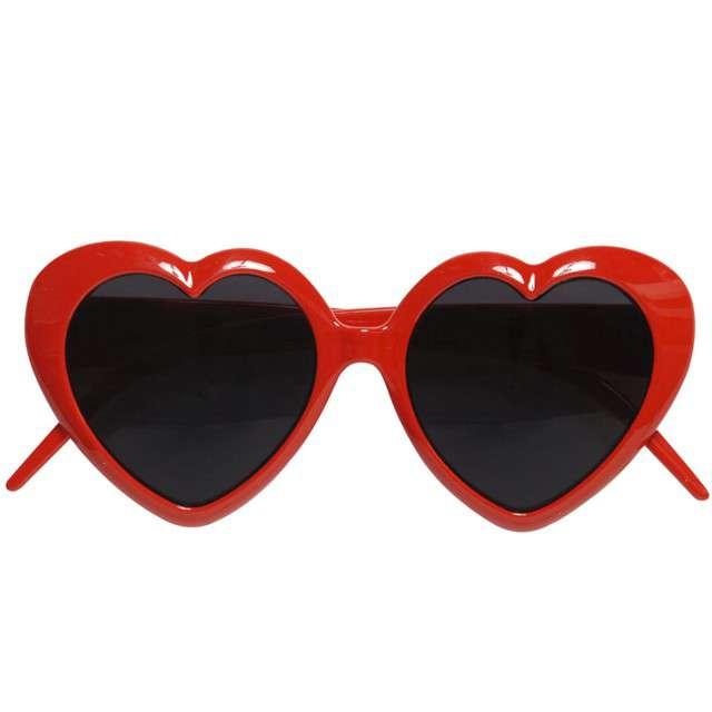 """Okulary party """"Serca"""", czerwone, Widmann"""