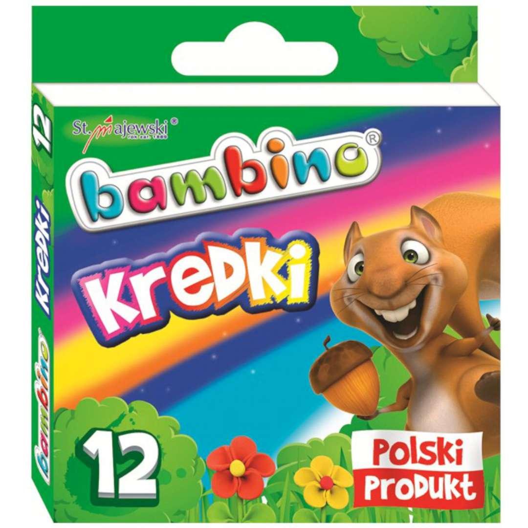 "Kredki ""Glinkowe"", mix, Bambino, 12 szt"