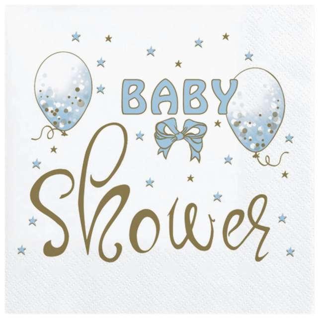 "Serwetki ""Baby Shower Boy - Baloniki"", Maki, 33 cm, 20 szt"