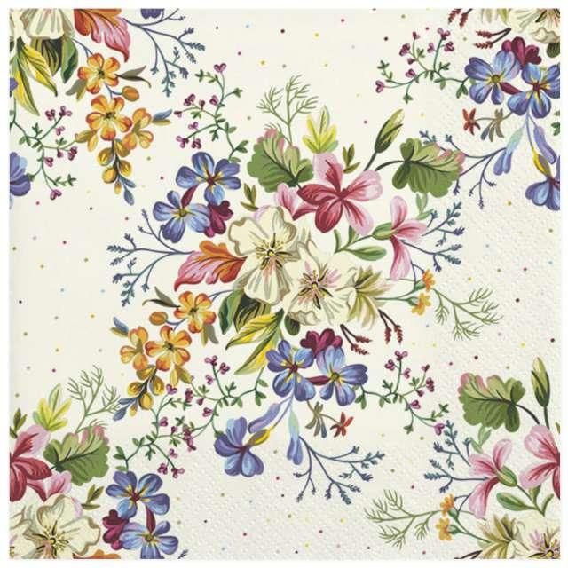 Serwetki Klasyczna kompozycja kwiatów Maki 33 cm 20 szt