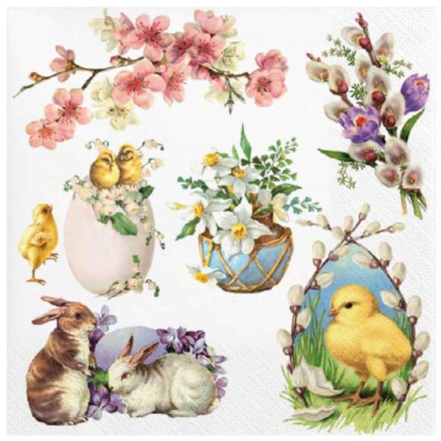 Serwetki Wielkanoc - świąteczna kompozycja Maki 33 cm 20 szt