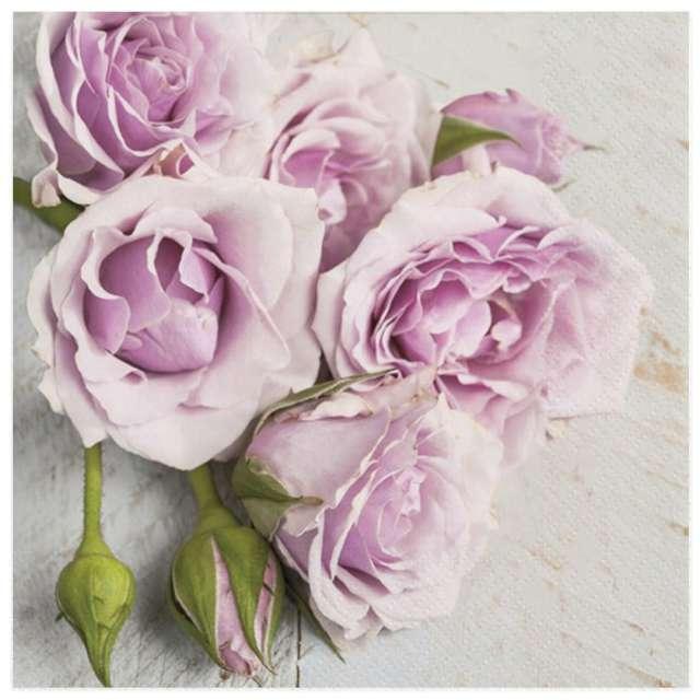 """Serwetki """"Pastelowy bukiet róż"""", Maki, 33 cm, 20 szt"""