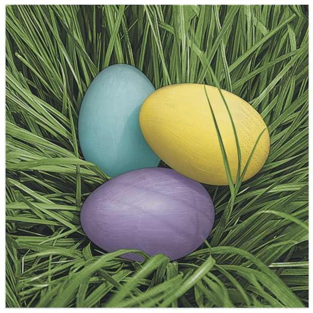 """Serwetki """"Wielkanoc - Barwione jajka w trawie"""", Maki, 33 cm, 20 szt"""