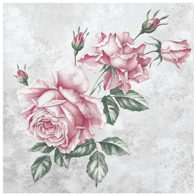 """Serwetki """"Róże w stylu vintage"""", Maki, 33 cm, 20 szt"""