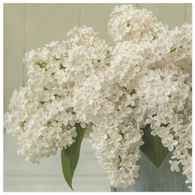 Serwetki Bukiet białej lilii Maki 33 cm 20 szt