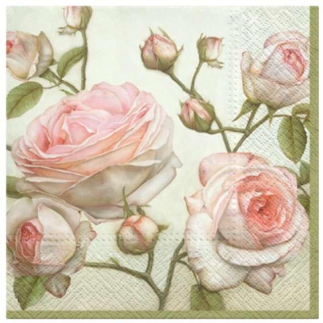 """Serwetki """"Piękne róże"""", PAW, 33 cm, 20 szt."""