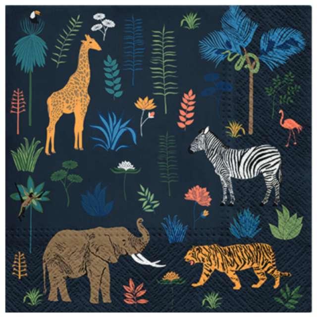 """Serwetki """"Egzotyczne zwierzęta"""", PAW, 33 cm, 20 szt."""