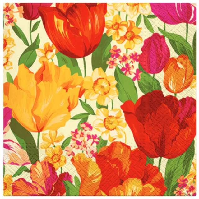 """Serwetki """"Wiosenne kwiaty"""", PAW, 33 cm, 20 szt."""