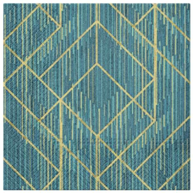 """Serwetki """"Geometryczna dekoracja"""", PAW, 33 cm, 20 szt."""