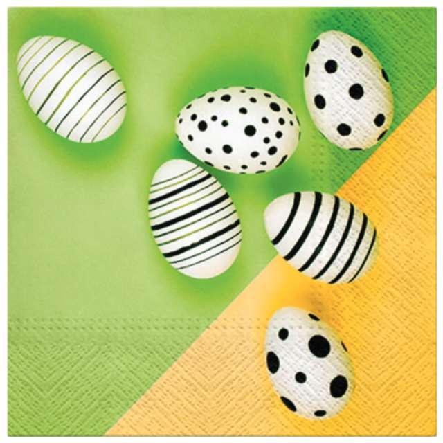 Serwetki Wielkanoc - nowoczesne jajka PAW 33 cm 20 szt.