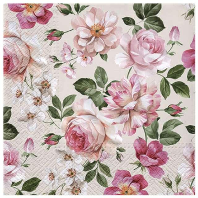 """Serwetki """"Różowe róże"""", PAW, 33 cm, 20 szt."""