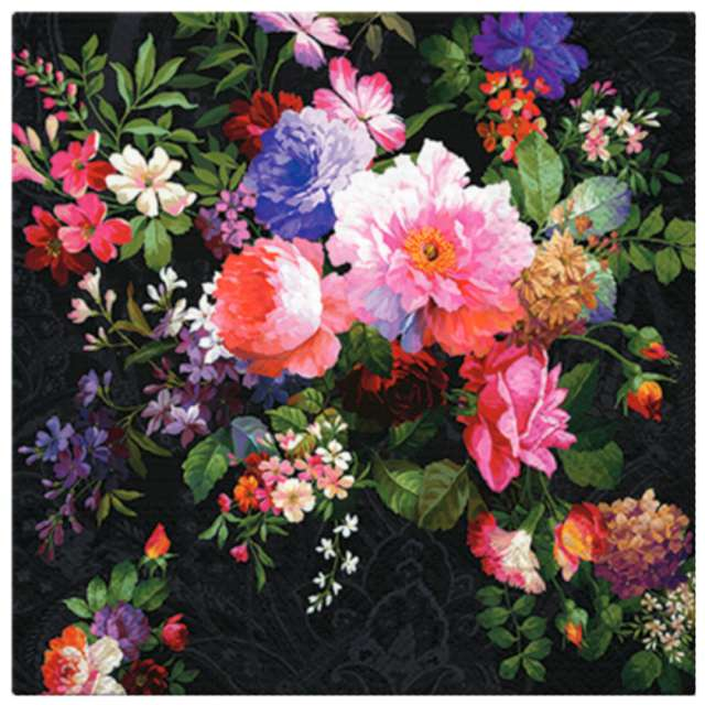 """Serwetki """"Róże na dywanie"""", PAW, 33 cm, 20 szt."""