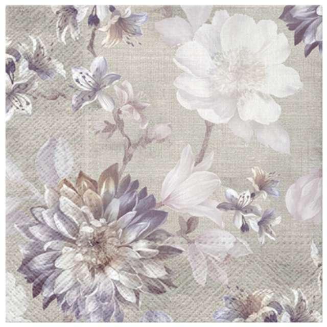 """Serwetki """"Sentymentalne kwiaty"""", PAW, 33 cm, 20 szt."""