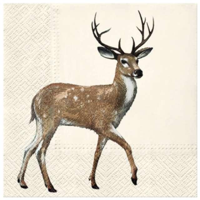 """Serwetki """"Chodzący jeleń"""", PAW, 33 cm, 20 szt."""