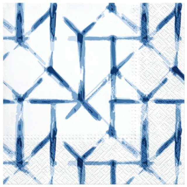 Serwetki Pastelowa siatka niebieskie PAW 33 cm 20 szt.