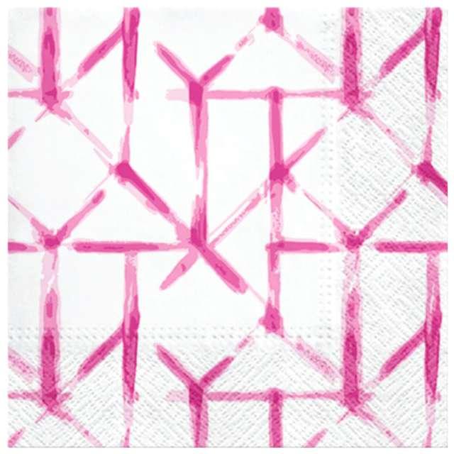Serwetki Pastelowa siatka różowe PAW 33 cm 20 szt.