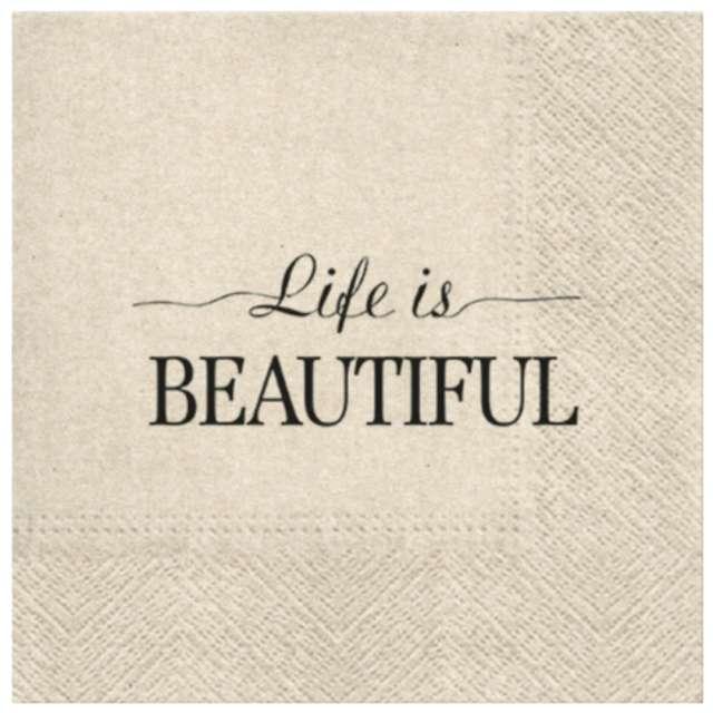 """Serwetki """"We Care - Beautiful life"""", PAW, 33 cm, 20 szt."""