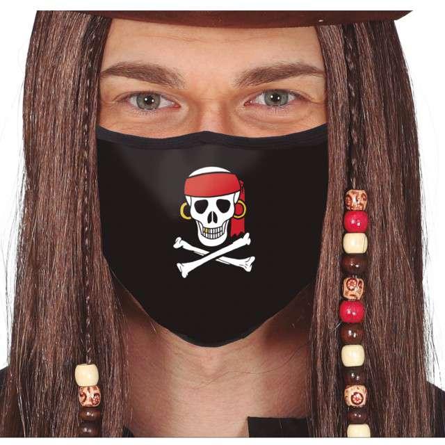 Maseczka dla dorosłych Pirat czarna Guirca