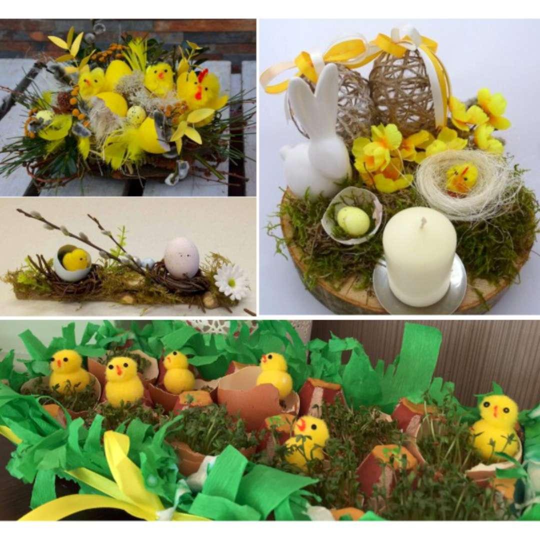 Kurczaki Dekoracyjne-żółte 4 cm ALIGA 3 szt