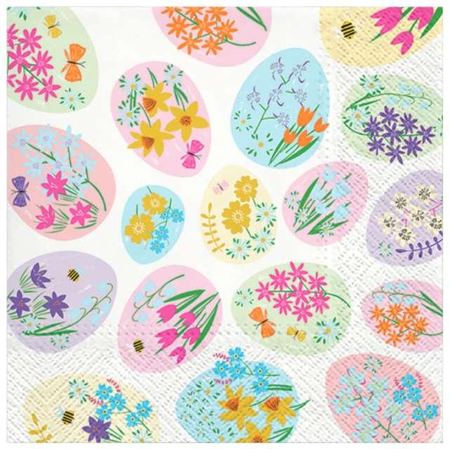 """Serwetki """"Wielkanoc - jajka w kwiatki"""", PAW, 33 cm, 20 szt."""