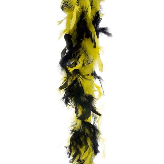 """Boa """"Deluxe"""", czarno-żółte, FunnyFashion, 200 cm, 45 g"""