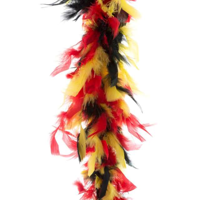 """Boa """"Deluxe"""", czerwono-żółty, FunnyFashion, 200 cm, 45 g"""