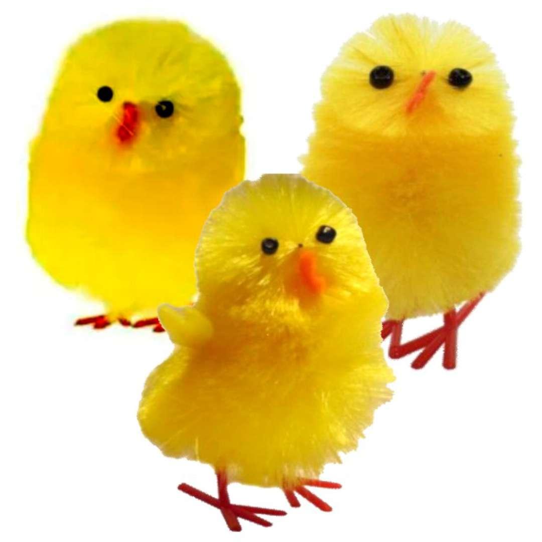 "Dekoracja ""Kurczaki żółte"", 3 cm, ALIGA, 3 szt"