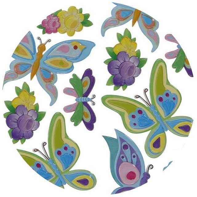 """Naklejki """"Wypukłe - motyle i kwiaty"""", Titanum"""