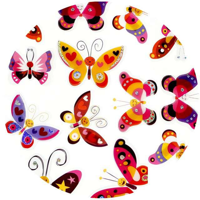 "Naklejki ""Motylki uśmiechnięte"", Titanum"