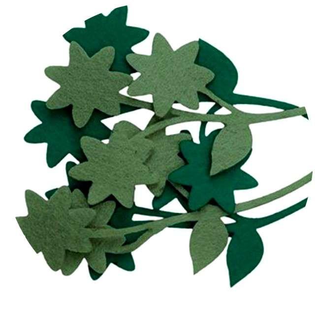 """Ozdoba filcowa """"Kwiatki zielone"""", Titanum, 4 szt."""