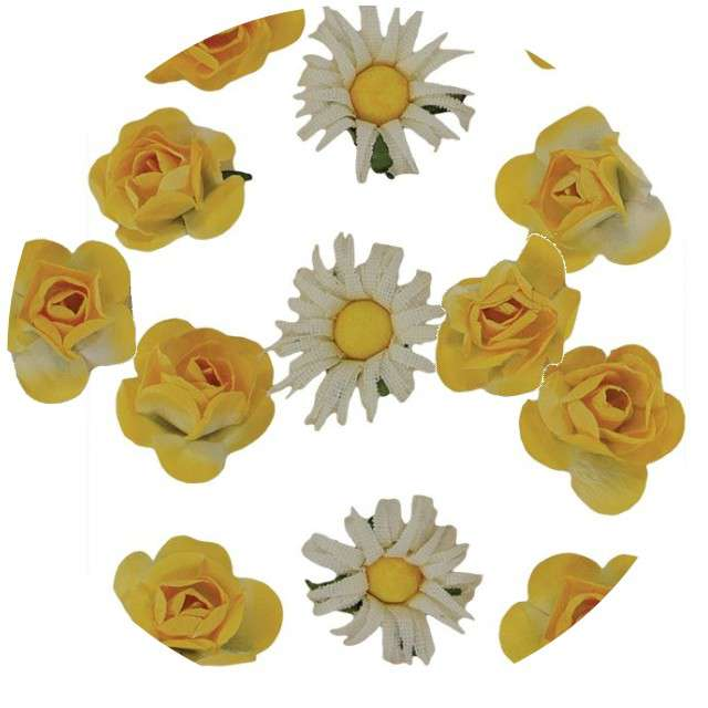 "Ozdoba papierowa ""Kwiatki"", Titanum, 11 szt."