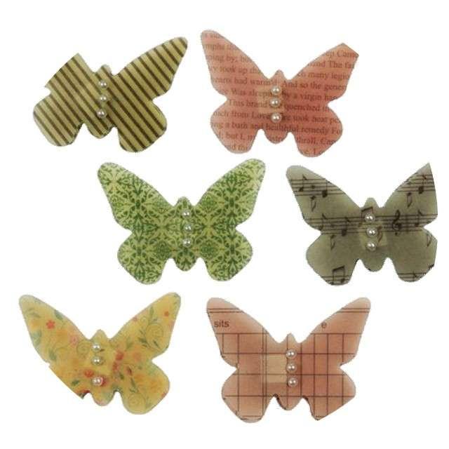 """Naklejki """"Motylki z koralikami"""", Titanum"""