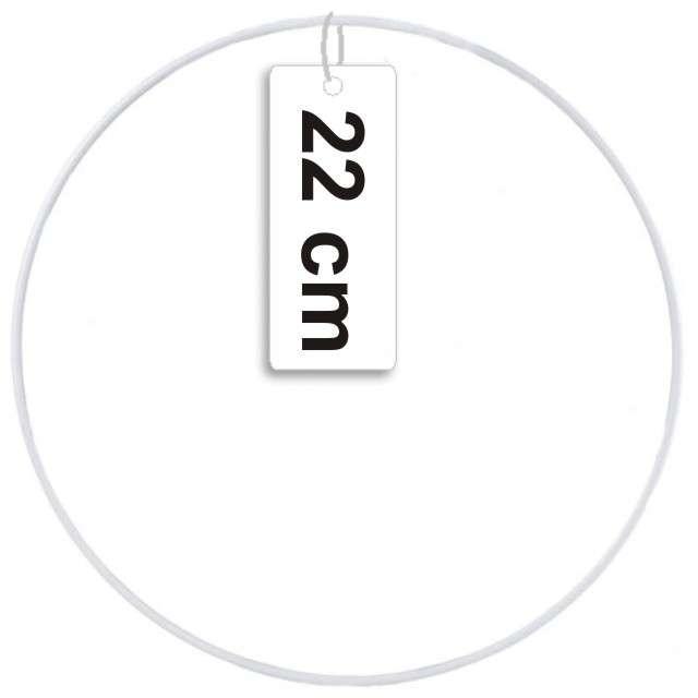 """Dekoracja """"Obręcz-łapacz snów"""", biała, Czakos, 22cm"""