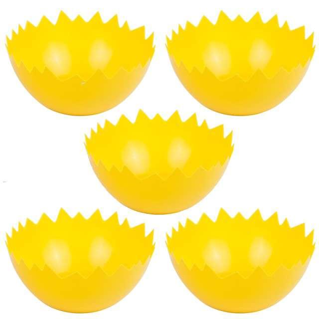 """Dekoracja """"Wiekanocne skorupki"""", żółte, Czakos, 5 szt"""