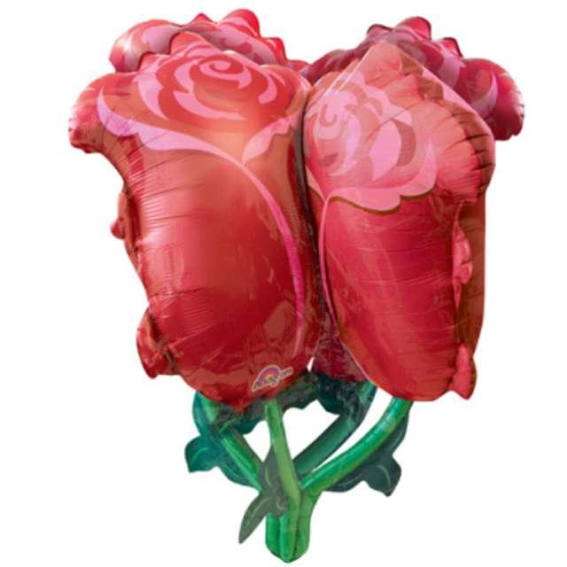 """Balon foliowy """"Czerwone Róże"""", Amscan, 30"""", SHP"""
