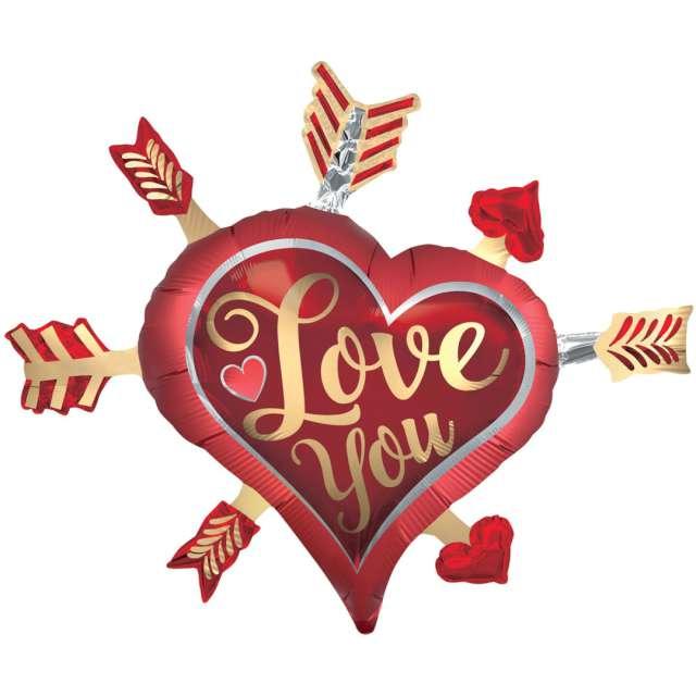 """Balon foliowy """"Serce Love you"""", Amscan, 34"""", HRT"""