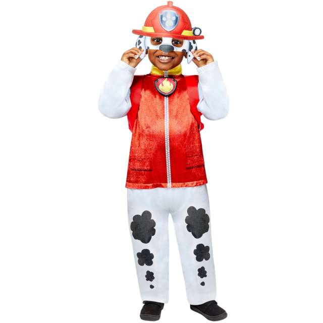 """Strój dla dzieci """"Paw Patrol Marshall"""", z plecakiem i maską, Amscan, 4-6 lat"""
