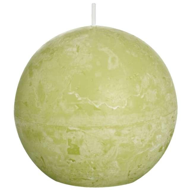 """Świeca """"Rustic Kula"""", zielona jasna, Bolsius, 80 mm"""