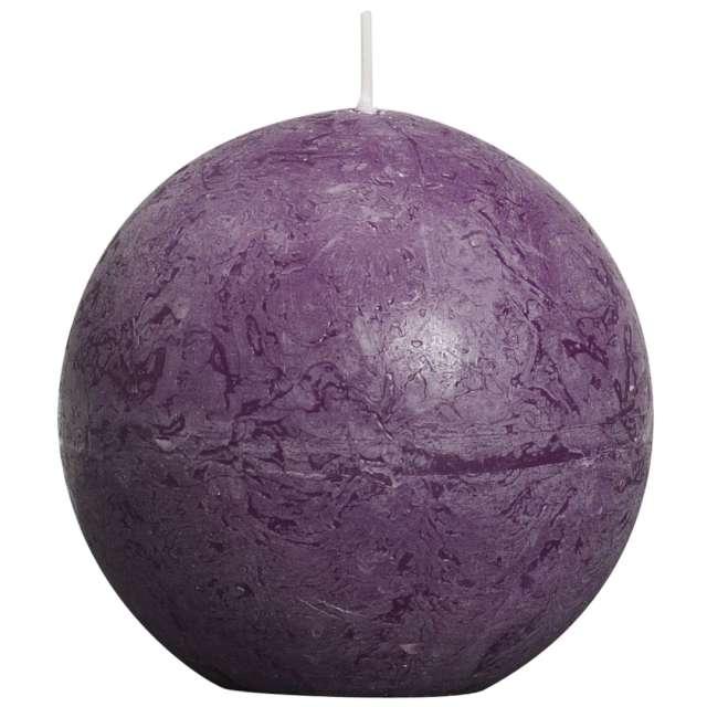 """Świeca """"Rustic Kula"""", purpurowa, Bolsius, 80 mm"""